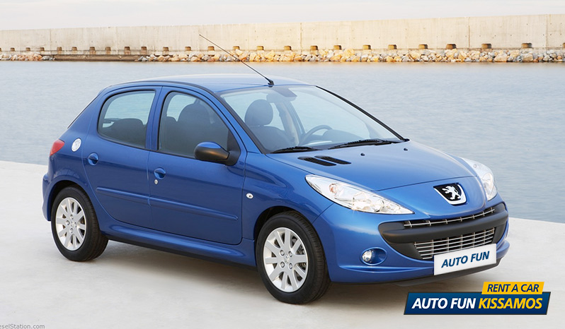 Rent PEUGEOT 206 1400 CC in Crete